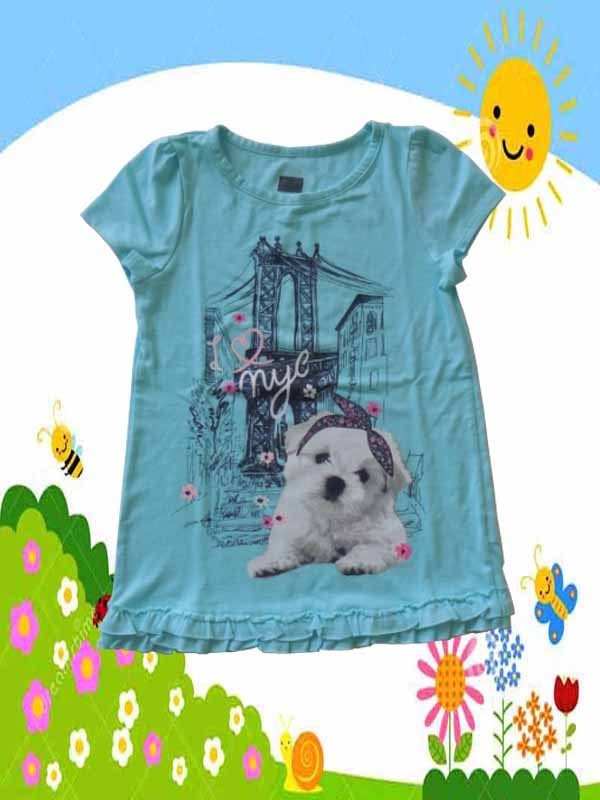Baju-Anak-Branded-Atasan-Faded-Glory-Biru-Doggy