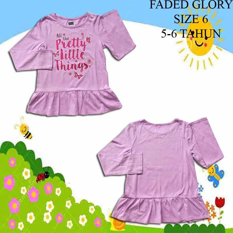 Baju-Anak-Branded-Atasan-Faded-Glory-Butter-Fly-Pink