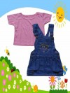 Dress Anak Import Jeans 2 in 1