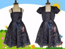 Dress Anak Import M K L Rompi Biru Dongker