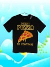 Baju Anak Branded Murah Kaos PLACE PIZZA Black